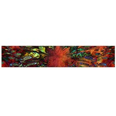 Boho Bohemian Hippie Floral Abstract Flano Scarf (Large)