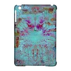 Retro Hippie Abstract Floral Blue Violet Apple iPad Mini Hardshell Case (Compatible with Smart Cover)