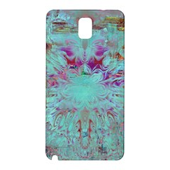 Retro Hippie Abstract Floral Blue Violet Samsung Galaxy Note 3 N9005 Hardshell Back Case