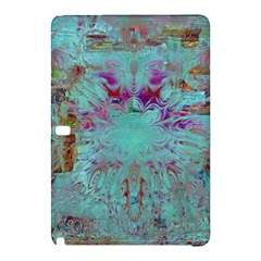 Retro Hippie Abstract Floral Blue Violet Samsung Galaxy Tab Pro 10.1 Hardshell Case