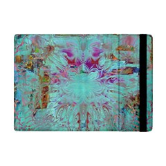 Retro Hippie Abstract Floral Blue Violet iPad Mini 2 Flip Cases