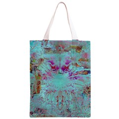 Retro Hippie Abstract Floral Blue Violet Classic Light Tote Bag