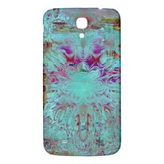 Retro Hippie Abstract Floral Blue Violet Samsung Galaxy Mega I9200 Hardshell Back Case