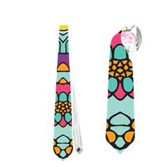 Mariager - Bold blue,purple and yellow flower design Necktie (One Side)