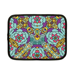 Mariager - Bold blue,purple and yellow flower design Netbook Case (Small)