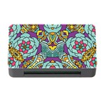 Mariager - Bold blue,purple and yellow flower design Memory Card Reader with CF Front