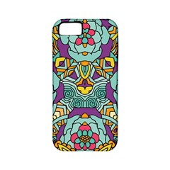 Mariager - Bold blue,purple and yellow flower design Apple iPhone 5 Classic Hardshell Case (PC+Silicone)