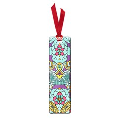 Mariager - Bold blue,purple and yellow flower design Small Book Mark