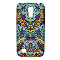 Mariager - Bold blue,purple and yellow flower design Samsung Galaxy S4 Mini (GT-I9190) Hardshell Case