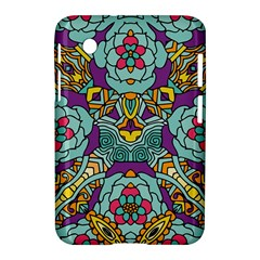 Mariager   Bold Blue,purple And Yellow Flower Design Samsung Galaxy Tab 2 (7 ) P3100 Hardshell Case