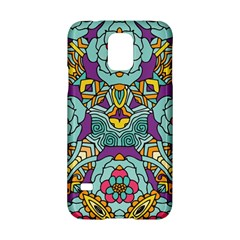 Mariager - Bold blue,purple and yellow flower design Samsung Galaxy S5 Hardshell Case