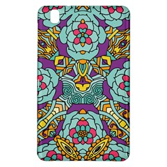 Mariager - Bold blue,purple and yellow flower design Samsung Galaxy Tab Pro 8.4 Hardshell Case