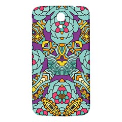 Mariager - Bold blue,purple and yellow flower design Samsung Galaxy Mega I9200 Hardshell Back Case