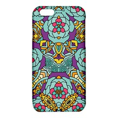 Mariager - Bold blue,purple and yellow flower design iPhone 6/6S TPU Case