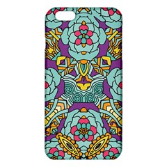 Mariager - Bold blue,purple and yellow flower design iPhone 6 Plus/6S Plus TPU Case