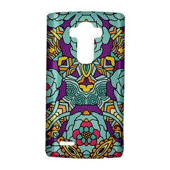 Mariager - Bold blue,purple and yellow flower design LG G4 Hardshell Case
