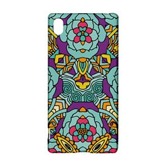 Mariager - Bold blue,purple and yellow flower design Sony Xperia Z3+ Hardshell Case