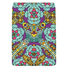 Mariager - Bold blue,purple and yellow flower design Removable Flap Cover (L)