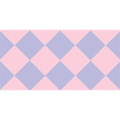 Harlequin Diamond Argyle Pastel Pink Blue YOU ARE INVITED 3D Greeting Card (8x4)