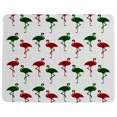 Flamingos Christmas Pattern Red Green Jigsaw Puzzle Photo Stand (rectangular)