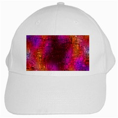 Purple Orange Pink Colorful White Cap