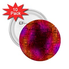 Purple Orange Pink Colorful 2.25  Buttons (10 pack)