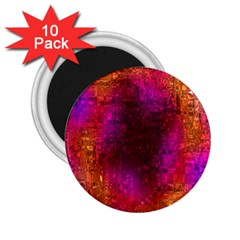 Purple Orange Pink Colorful 2.25  Magnets (10 pack)