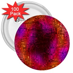 Purple Orange Pink Colorful 3  Buttons (100 pack)