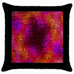 Purple Orange Pink Colorful Throw Pillow Case (Black)