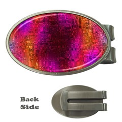 Purple Orange Pink Colorful Money Clips (Oval)