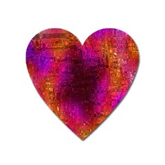 Purple Orange Pink Colorful Heart Magnet