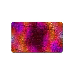 Purple Orange Pink Colorful Magnet (Name Card)