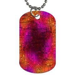 Purple Orange Pink Colorful Dog Tag (One Side)