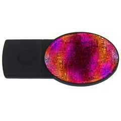 Purple Orange Pink Colorful USB Flash Drive Oval (1 GB)