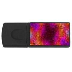 Purple Orange Pink Colorful USB Flash Drive Rectangular (2 GB)
