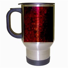 Purple Orange Pink Colorful Travel Mug (Silver Gray)