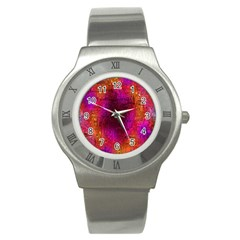 Purple Orange Pink Colorful Stainless Steel Watch