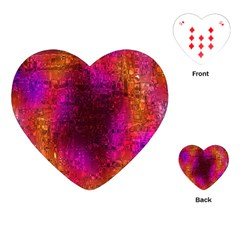 Purple Orange Pink Colorful Playing Cards (Heart)