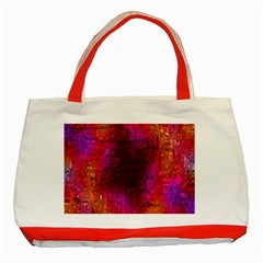 Purple Orange Pink Colorful Classic Tote Bag (Red)