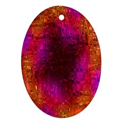 Purple Orange Pink Colorful Oval Ornament (Two Sides)