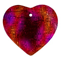 Purple Orange Pink Colorful Heart Ornament (2 Sides)