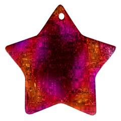 Purple Orange Pink Colorful Star Ornament (Two Sides)