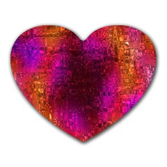 Purple Orange Pink Colorful Heart Mousepads