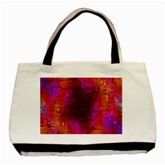 Purple Orange Pink Colorful Basic Tote Bag (Two Sides)