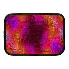 Purple Orange Pink Colorful Netbook Case (Medium)