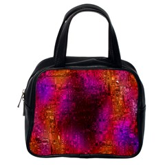 Purple Orange Pink Colorful Classic Handbags (One Side)