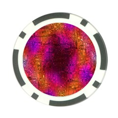 Purple Orange Pink Colorful Poker Chip Card Guards (10 pack)