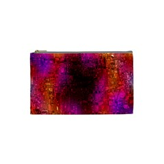 Purple Orange Pink Colorful Cosmetic Bag (Small)