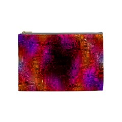 Purple Orange Pink Colorful Cosmetic Bag (Medium)