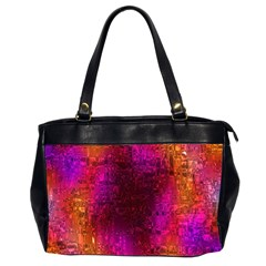Purple Orange Pink Colorful Office Handbags (2 Sides)